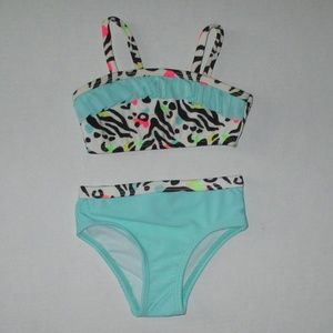 New Girls Size 6-9 mths Op 2 piece Bathing Suit